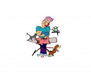 אישה עסוקה