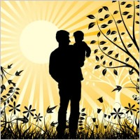 happy_family_father_and_son_element_vector_154147