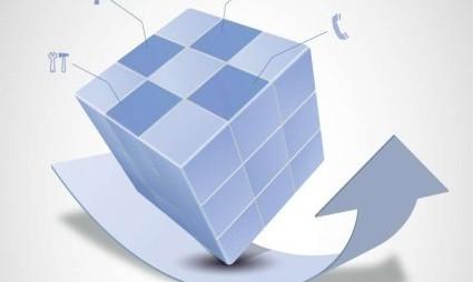vector_magic_cube_and_arrow_design_148704