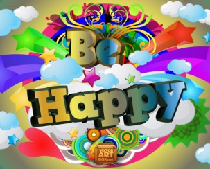 be-happy-vector