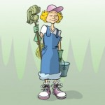 cartoon_cleaning_lady_vector