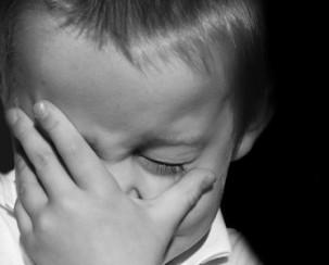 ילד עצוב עצבני