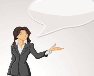 אישה מדברת